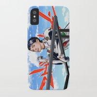 neon genesis evangelion iPhone & iPod Cases featuring Evangelion Rei Hathaway by Akyanyme
