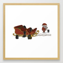 Preparing For Launch, (The Unexpected Adventures: Christmas Edition) Framed Art Print