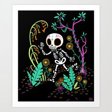 Sugar Skull Jungle Art Print