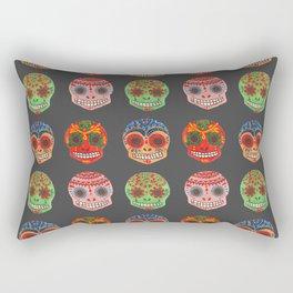Watercolor Dia de los Muertos Skulls Rectangular Pillow