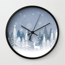 Lonely Winter Wall Clock