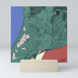 green phant Mini Art Print