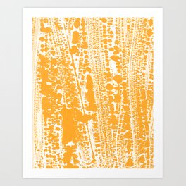 Orange creamsicle Splatter Splash Decor Art Print