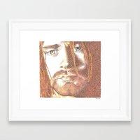 kurt rahn Framed Art Prints featuring Kurt by Nightrav3n