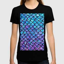 Purples & Blues Mermaid scales T-shirt