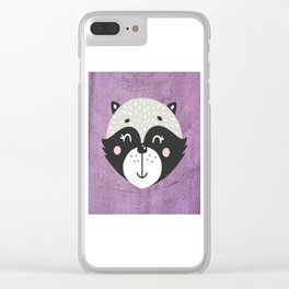 Raccoon Face Clear iPhone Case