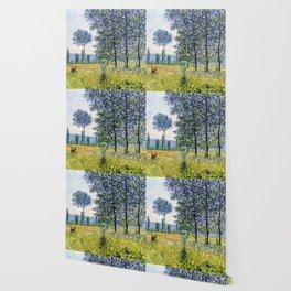 """Claude Monet """"Sunlight Effect under the Poplars"""", 1887 Wallpaper"""