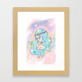 cosmo mermaid Framed Art Print
