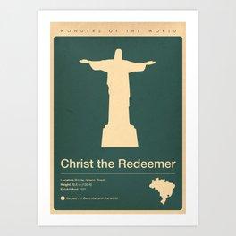 Christ the Redeemer, Brazil Art Print