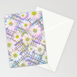 Daisy Plaid Stationery Cards