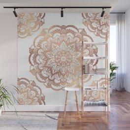 Mandala Rose-Gold Shine Wall Mural