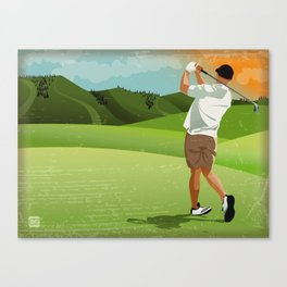 Mountain Golfer Canvas Print