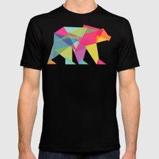 Fractal Bear - neon colorways Mens Fitted Tee LARGE Black