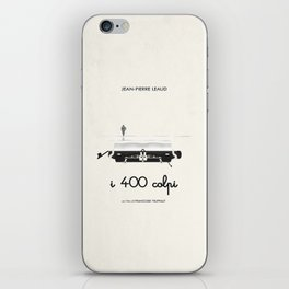 I 400 colpi  |  movie poster remake iPhone Skin