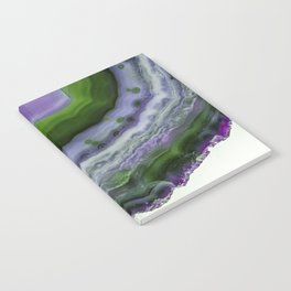 Purple and Green Agate Notebook