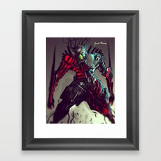 Pike Machina Reptilia Framed Art Print