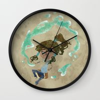 chibi Wall Clocks featuring Chibi Korra by Serena Rocca