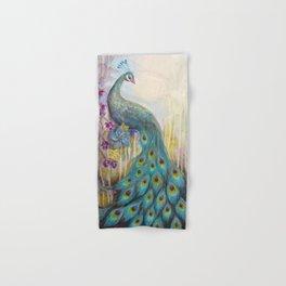 Jeweled Peacock Hand & Bath Towel