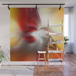 Meditation Swirl Hummingbird on Feeder  Wall Mural