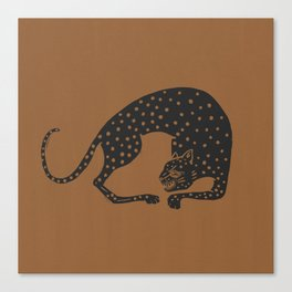 Blockprint Cheetah Canvas Print