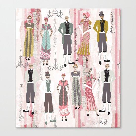 Ode to Austen Canvas Print