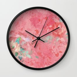 Painted Roses Wall Clock