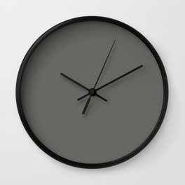BM Kendall Charcoal Gray HC-166 - Trending Color 2019 - Solid Color Wall Clock