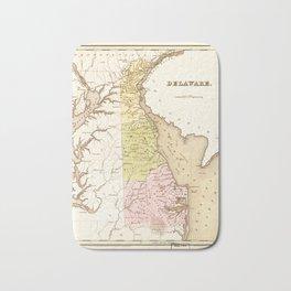 Map of Delaware (1838) Bath Mat