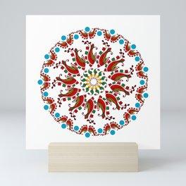 Hand drawn Mandala design Mini Art Print