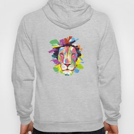 This Lion Is Fading Away In Colors Hoody