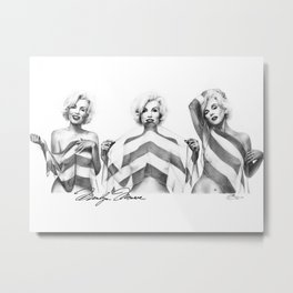 Monroe Trio Metal Print