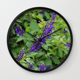 Indifference in Purple Wall Clock