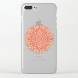 Mandala 12 / 2 eden spirit orange Clear iPhone Case