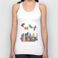 tetris Tank Tops featuring Tetris by Monchi