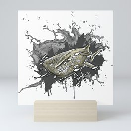 Whale shark Mini Art Print