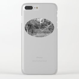 The Forest in Monochrome Clear iPhone Case