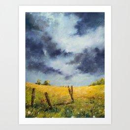A Stormy Sky Art Print