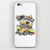 newspaper iPhone & iPod Skins featuring Newspaper Taxis by Jemma Banks