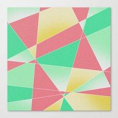 Geometric Fractal Strawberry Mint Ice Cream Canvas Print
