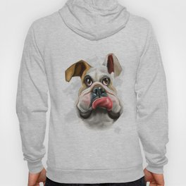 This is a caricature painting of a dog Hoody