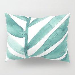 Green Palm Leaf Crop Pillow Sham