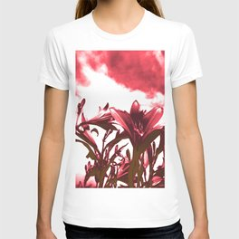 Lilies in Red T-shirt