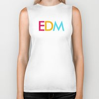 edm Biker Tanks featuring EDM Saved My Life by DropBass
