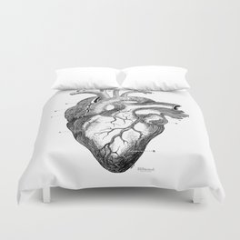 Anatomic hearth engraving Duvet Cover