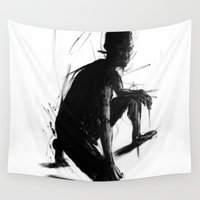 knight Wall Tapestries featuring Knight by t-edition