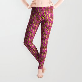 Dip Pen Nibs (Magenta and Yellow) Leggings