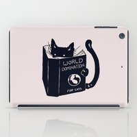 tree iPad Cases featuring World Domination For Cats by Tobe Fonseca