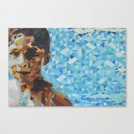 Niño en alberca, Boy in pool Canvas Print