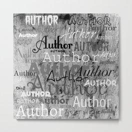 Author author bw Metal Print