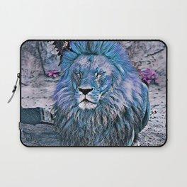 Toony Lion blue Laptop Sleeve